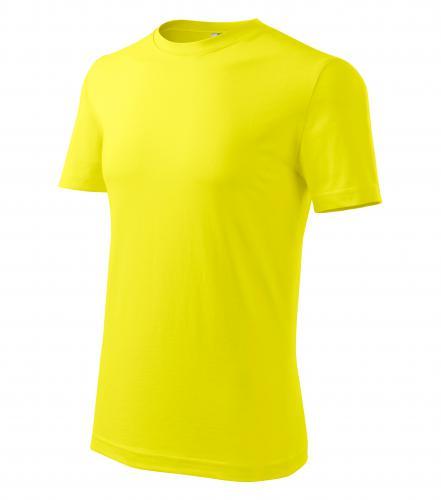 Tričko pánské barevné CLASSIC NEW L citrónová