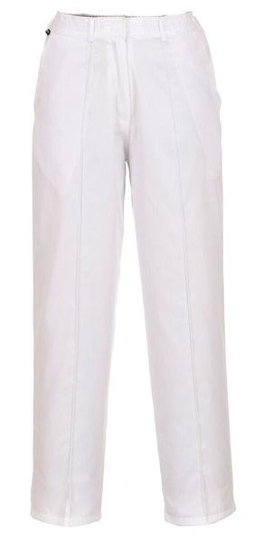 Dámské elastické kalhoty bílá XXL