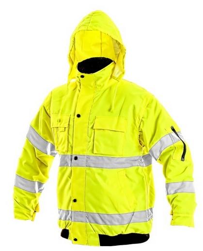Bunda LEEDS, výstražná, žlutá XL