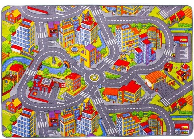 Dětský koberec Silnice Rally 140 x 200 cm