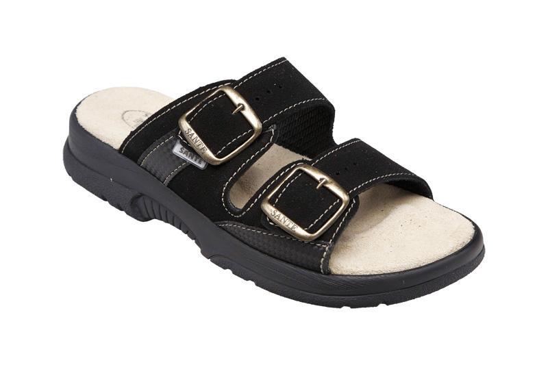 Zdravotní pantofle N/517/33/68/CP, černé 41