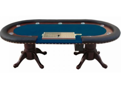 Pokerový stůl MIRAGE - modré plátno