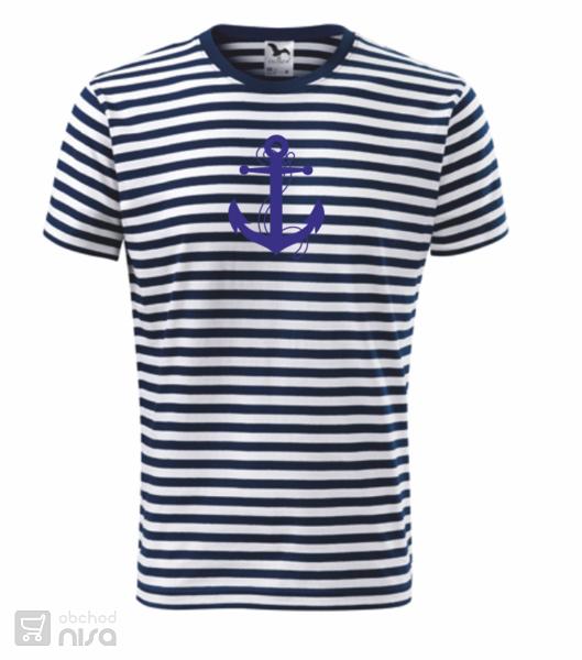 865e4c17869 Pruhované tričko s kotvou od