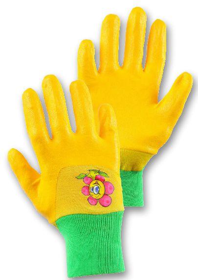 dětské rukavice DRAGO žluté 5